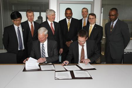 Three leading Michigan research universities and Fraunhofer signed a Letter of Intent