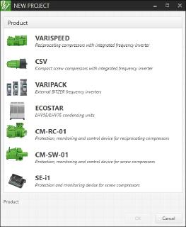 Image 2: The software supports VARISPEED reciprocating compressors, CSV compact screw compressors, the external frequency inverters in the VARIPACK series, the LHV5E and LHV7E ECOSTAR condensing units as well as the protection, monitoring and operating units CM-RC-01, CM-SW-01 and SE-i1