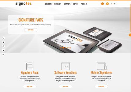 signotec presents new Website