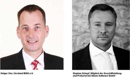 Holger Vier, Vorstand BIGS e.V. und Stephan Schopf, Mitglied der Geschäftsleitung und Prokurist bei Sikom Software GmbH