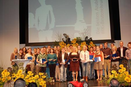 Die besten Azubis 2012 aus dem Stadt- und Landkreis Heilbronn wurden geehrt im Intersport Messe- und Event-Center redblue in Heilbronn
