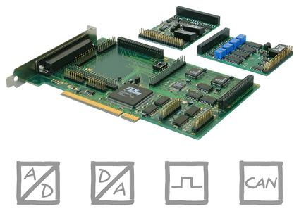 PCI-BASE1000: PC measurement technology for the acquisition of analog, digital and CAN signals via PCI interface
