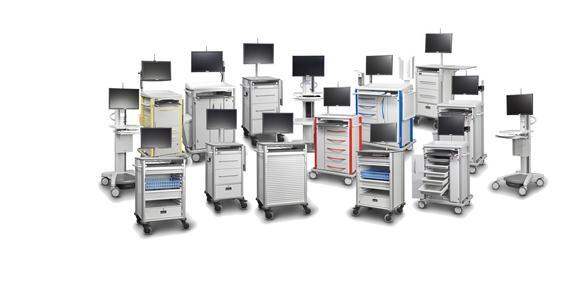 Die AluCarts von LEAN sind die leichteste Variante eines Stations- und Pflegewagens und können individuell konfiguriert werden