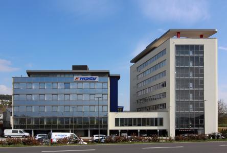 MPDV-Neubau an der Firmenzentrale in Mosbach