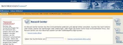 Screenshot_Iron Mountain Connect_Record Center