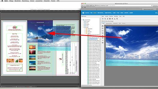 Die Bildauswahl im MAM-System per Drag&Drop dem InDesign Dokument zuweisen