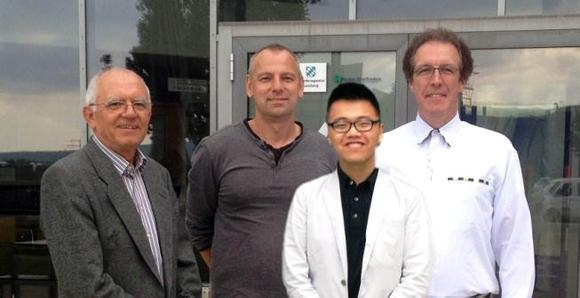 Dr. Werner Eck, Joachim Geiger, Steven Lan, Armin Schoentag after joint signature