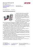 [PDF] Pressemitteilung: Neuer KYB-Federnkatalog 2011