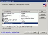 Anwender können mit dem OLXFolderReplication Agent beliebig viele Replikationsjobs erstellen.