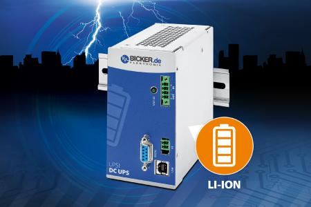 24V DC UPS with integrated Li-Ion battery