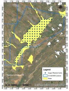 Figure 1. Drill map at Urgakh Naran.