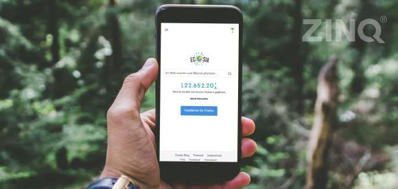ZINQ sucht auf Ecosia