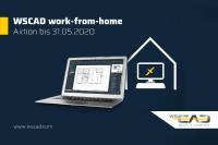 Mit work-from-home bietet WSCAD seinen Kunden die Möglichkeit von zuhause zu arbeiten - schnell, einfach und effizient
