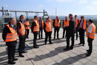 Besichtigung von Biogasanlage und Power-to-Gas-Anlage bei Viessmann in Allendorf (Eder): Experten der H2BZ-Initiative Hessen informierten sich über die Technologien zur Erzeugung erneuerbarer Energieträger