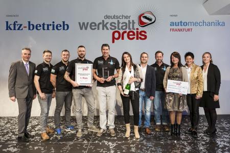 Den ersten Platz des Deutschen Werkstattpreises 2016 belegte das Team des Auto Zentrum Nord aus Chemnitz / Bild: Vogel Business Media/S. Bausewein