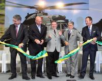 Eurocopter's Helibras subsidiary inaugurates a major new Brazilian assembly facility for EC725/EC225 helicopters in Itajubá