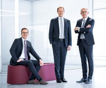 V.l.n.r.: Dirk Engel, Peter Hirsch und Michael Finger (Sprecher).