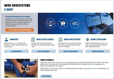 NORD DRIVESYSTEMS stellt den neuen E-Shop für Ersatzteile und Zubehör zusätzlich zu seinem Online-Kundenportal myNORD bereit. Perspektivisch werden beide Online-Services zusammenwachsen Bild: NORD DRIVESYSTEMS