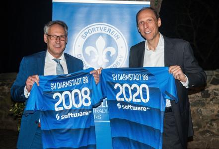 Rüdiger Fritsch, Präsident SV Darmstadt 98 und Arnd Zinnhardt, Finanzvorstand Software AG