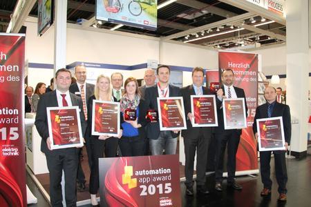 Automation app award 2015: Gewinner und Shortlistplatzierte freuen sich über die Branchenauszeichnung / (Foto: Vogel Business Media)