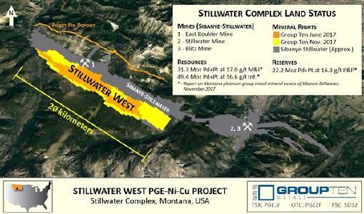 Der Stillwater-Komplex; Foto: Group Ten Metals