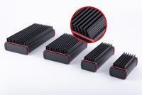 Neu im Programm: ALUBOS-Profilgehäuse mit integrierten Kühlrippen - im Bild die beiden Modelle ABPH 1000 (l.) und ABPH 600 (r.) in unterschiedlichen Längen