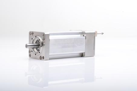 Ultra-high vacuum motor with extremely low outgassing for use directly in the vacuum chamber at up to 10-8 mbar negative pressure