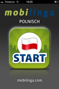 Polnisch App von Mobilinga
