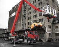 Crane mode for Jumbo class NX access platforms