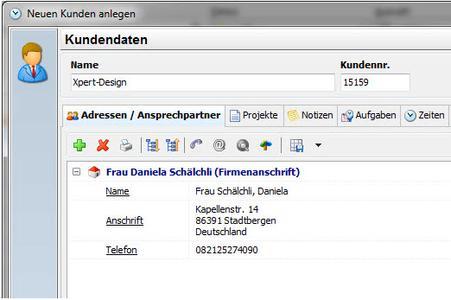 Adressdaten / Kundendetails