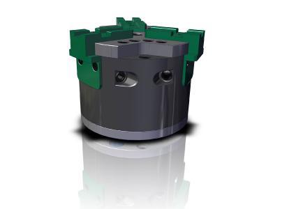 Bei sehr kompakten Abmessungen erreichen die Spannfutter hohe Spannkräfte bis 11 kN