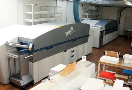 buysite leverages the flexibility offered by the two KODAK NEXPRESS Digital Production Color Presses when it comes to print quality, substrates, and in-line finishing