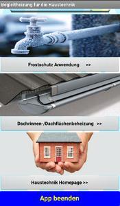 Haustechnik APP Hauptmenue