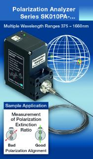 Polarization Analyzer for fiber optic and free beam applications
