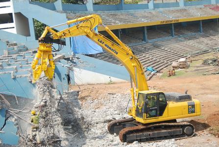 Atlas Copco bei der Renovierung des Stadions für die Cricket World Cup Finals 2011 dabei