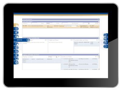 Call-Center Oberfläche auf dem Tablet _2