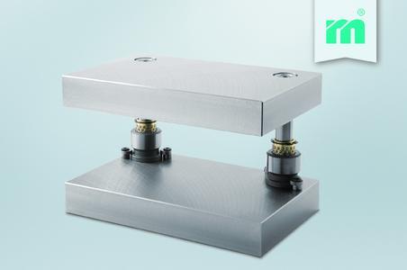 New at Meusburger:: SH Two-pillar die set with linear guiding units, Photo: Meusburger
