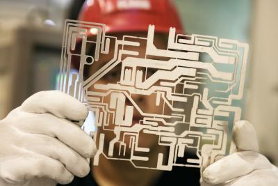 Gestanzte Teile aus Kupfer werden besonders bei großen Stückzahlen gefertigt.