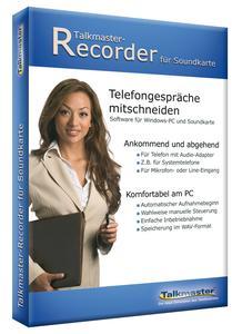 """Mitschneidesoftware """"Talkmaster-Recorder für Soundkarte"""" jetzt günstig im Paket mit Telefonadapter """"Retell 157"""""""