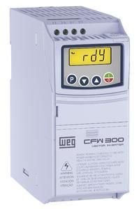 Der neue Frequenzumrichter CFW300 deckt in zwei Baugrößen Motorleistungen von 0,18 bis 4 kW ab.