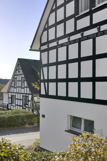 Schön wie eh und je: Auch mit der neuen Wärmedämmung bliebt die Fachwerkoptik am Landgasthof Vollmer-König im sauerländischen Schmallenberg erhalten