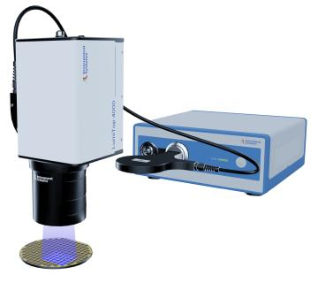 Comprehensive optical wafer testing for μLEDs at a single test station