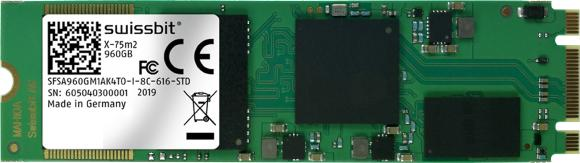 X-75m2 2280 SSD, 3D-NAND für den industriellen Temperaturbereich, Bild: Swissbit