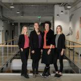 Das Team des Welcome Center Heilbronn-Franken, v.l.n.r. Elena Wormer, Marlene Neumann, Sandra Villaverde Santos, Julia Heinnickel / Foto: WHF GmbH