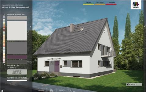 """Gestaltungsbeispiel """"sachlich-modern"""" aus dem Caparol Fassaden-Konfigurator. Foto: Caparol Farben Lacke Bautenschutz"""