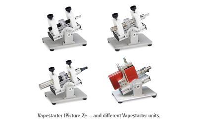 Photo 3 (B): ... and different Vapestarter units.