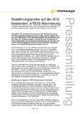 [PDF] Pressemitteilung: Bewährungsprobe auf der A19 bestanden: e*BOS-Alarmierung