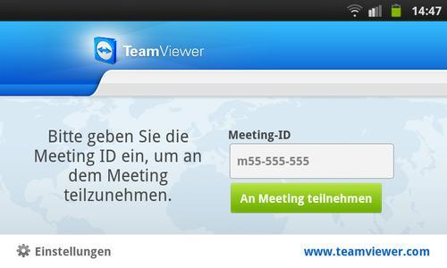 TeamViewer für Meetings (www.teamviewer.com)