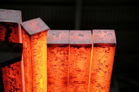 Auf einer SMS Concast-Stranggießanlage hergestellte Knüppel