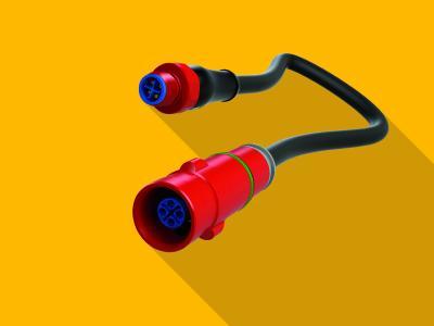 Der M12-Powerstecker für die Leistungselektronik ist der kleinste und kompakteste Anschluss für Kabel mit Leitungen bis 2,5 mm2 auf dem Markt